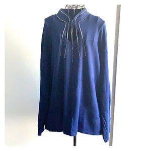 Reba bling blue turtle neck 3x